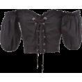 FECLOTHING -  Strap Shoulder Short Sleeve T-Shirt - Shirts - $25.99