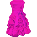 PacificPlex - Strapless Taffeta Bubble Dress with Pull-Ups Formal Gown Prom Dress Fuchsia - Dresses - $66.99