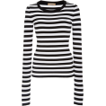 lence59 - Striped Jersey Sweater - Long sleeves t-shirts -