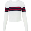 FECLOTHING - Striped Turtleneck Long Sleeve Top Knit - Pullovers - $35.99