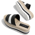 lence59 - Striped jute flatform sandals - Platforms - £29.99  ~ $39.46