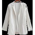 FECLOTHING - Striped mid-length ladies blazer - Bolero - $35.99