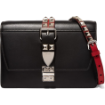 aazraa - Studded leather shoulder bag - Torebki -