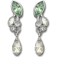 Viktoria Jurica - Swarovski Green Earrings - Earrings -