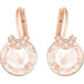 Bev Martin - Swarovski Pink and Rose Gold Earrings - Uhani -