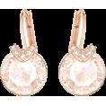 Bev Martin - Swarovski Pink and Rose Gold Earrings - Earrings -