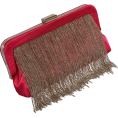 PacificPlex Clutch bags -  Textured Satin Chain Fringe Evening Clutch Bag