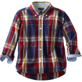 Tommy Hilfiger - Tommy Hilfiger Boys 2-7 Long Sleeve Chip Plaid Woven Shirt Flag Blue - Long sleeves shirts - $37.50
