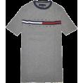 Tommy Hilfiger T-shirts -  Tommy Hilfiger Men Classic Fit Logo T-Shirt Dark Grey