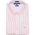 Tommy Hilfiger - Tommy Hilfiger Men Custom Fit Long Sleeve Logo Striped Shirt Light pink/white/pink - Long sleeves shirts - $41.99