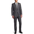 Tommy Hilfiger - Tommy Hilfiger Men's 2 Button Side Vent Trim Fit Solid Suit with Flat Front Pant Grey - Suits - $262.43