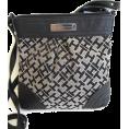 Tommy Hilfiger Hand bag -  Tommy Hilfiger Signature Logo Small Cross Body Handbag, Black Alpaca