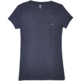 Tommy Hilfiger - Tommy Hilfiger Slim Fit V-neck Women Logo T-shirt Navy - T恤 - $22.99  ~ ¥154.04