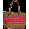 Tommy Hilfiger - Tommy Hilfiger Stripe Straw Tote Handbag (Tan/Pink/Orange) - Hand bag - $109.00
