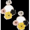 whisper - Topshop Flower Drop Hoop Earrings - Earrings - £15.00  ~ $23.25