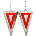 Megan and Dana  - Triangled Red - Earrings - $9.00