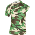 JecaKNS - Twisted Camouflage-print Jersey Top - Майки -