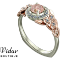 Rocksi - Unique Floral Halo Morganite Engagement - Ringe - $1,599.00  ~ 1,373.36€