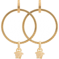 Georgine Dagher - VERSACE gold metallic medusa hoop earrin - Naušnice -