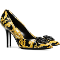Georgine Dagher - VERSACE zwarte gele en witte bardon 95 l - Classic shoes & Pumps -