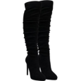 Puffball188 - Velvet Thigh High Boots - Boots -