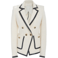 beautifulplace - Veronica Beard Verona Leather-Trimmed Tw - Jacket - coats -