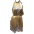 Marina71100 - Versace Atelier Gold Fringed Tie Dyed Ga - Dresses - 32.00€  ~ $37.26