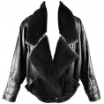 LaDomna  - Vintage Versace leather shearling jacket - Jacket - coats -