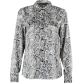 FECLOTHING - Vintage loose snake print shirt - Long sleeves shirts - $25.99