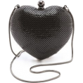HalfMoonRun - WHITING DAVIS heart clutch - Hand bag -