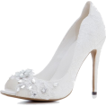 Nads  - Wedding Shoes With Flower Crystals - Classic shoes & Pumps - $74.50