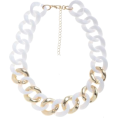 lence59 - White and Gold Chunky Chain Necklace - Necklaces -