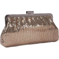 Amazon.com - Whiting & Davis Contemporary Shirring Clutch Bronze - Clutch bags - $132.00