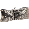 Amazon.com - Whiting & Davis Women's Crystal Bow 1-5806BK Clutch Pewter - Clutch bags - $111.99