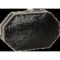 Amazon.com - Whiting & Davis Women's Octagon Clutch Black - Clutch bags - $325.00
