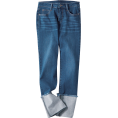 beautifulplace - Wide Roll Up Straight Denim Pants - Traperice -