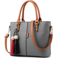 aazraa - Women High Quality Faux-Leather Bag with - Hand bag -