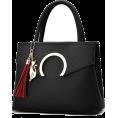 Sabaheta - Women Luxury Black Faux-Leather Tote Mes - Clutch bags -