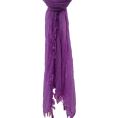 Hot from Hollywood - Womens Long Fringe Lightweight Crinkle Scarf Wrap Shawl Accessory Purple - Scarf - $12.99