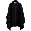 lence59 - Womens Black Fur Cape Jacket - Jacket - coats -
