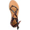 svijetlana2 - Wrap-around sandals in paisley - Sandals -