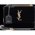 Aurora  - YSL Black Velvet Tote - Hand bag -