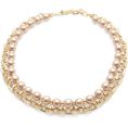 Mary Cheffer - Zenzii Champagne Pearl Bib Necklace - Necklaces - $43.00