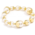 Mary Cheffer - Zenzii Gold-Capped Pearl Bracelet - Narukvice - $38.00  ~ 216,40kn