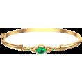 Pokrovsky - Золотой жесткий браслет Тайна изумруда - Bracelets - $1,179.32