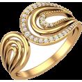 Pokrovsky - Золотое кольцо с дорожками фианитов - Rings - $131.21