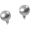 ABISTE(アビステ) - マジョルカパール12mm玉イヤリング/ライトグレー - Kolczyki - ¥3,570  ~ 27.43€