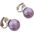 ABISTE(アビステ) - マジョルカパール12mm玉イヤリング/パープル - Earrings - ¥3,570  ~ $31.72