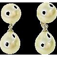 ABISTE(アビステ) - ダブルパールイヤリング/ホワイト - Earrings - ¥5,040  ~ $44.78