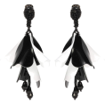 Doozer  - black and white earrings - 耳环 -